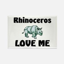 Rhinoceros Love Me Rectangle Magnet