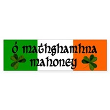 Mahoney in Irish & English Bumper Bumper Sticker