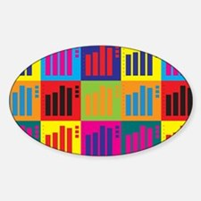 Statistics Pop Art Oval Decal