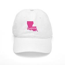Pink Louisiana Baseball Cap
