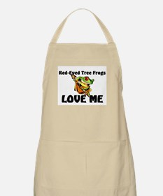 Red-Eyed Tree Frogs Love Me BBQ Apron