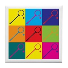 Squash Pop Art Tile Coaster