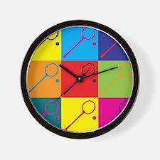 Squash Pop Art Wall Clock