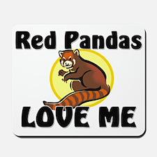 Red Pandas Love Me Mousepad
