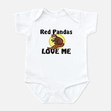 Red Pandas Love Me Infant Bodysuit