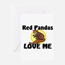 Red Pandas Love Me Greeting Cards (Pk of 10)