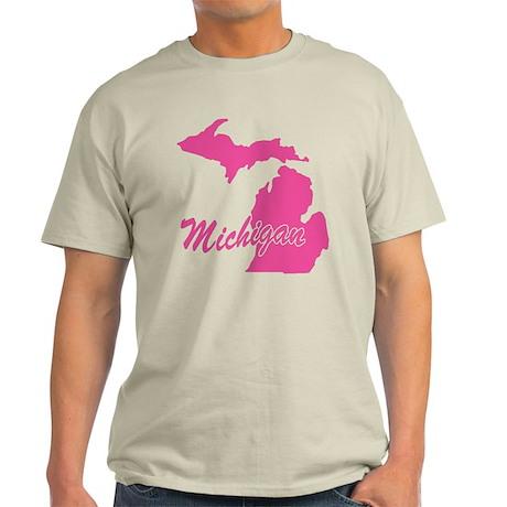 Pink Michigan Light T-Shirt