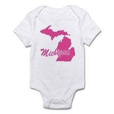 Pink Michigan Infant Bodysuit
