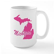 Pink Michigan Mug