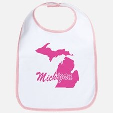 Pink Michigan Bib
