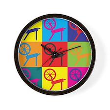Spinning Pop Art Wall Clock