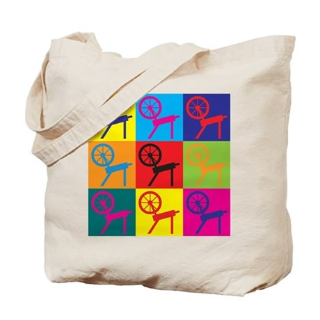 Spinning Pop Art Tote Bag