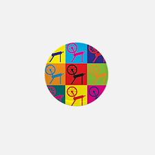 Spinning Pop Art Mini Button