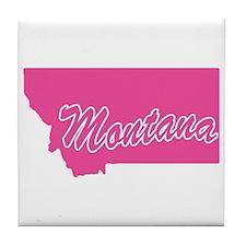 Pink Montana Tile Coaster