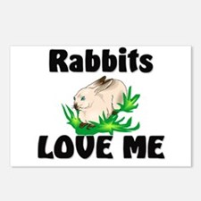 Rabbits Love Me Postcards (Package of 8)
