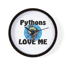 Pythons Love Me Wall Clock