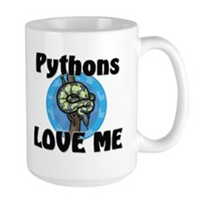 Pythons Love Me Large Mug