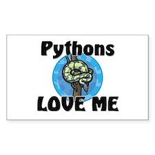 Pythons Love Me Rectangle Sticker