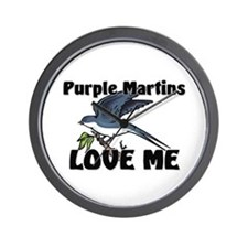 Purple Martins Love Me Wall Clock