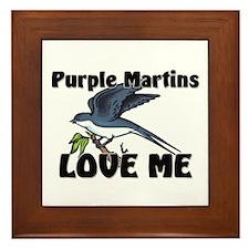 Purple Martins Love Me Framed Tile