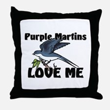 Purple Martins Love Me Throw Pillow