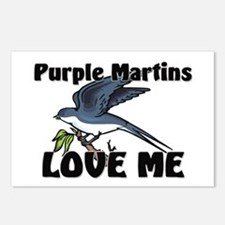 Purple Martins Love Me Postcards (Package of 8)