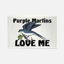 Purple Martins Love Me Rectangle Magnet