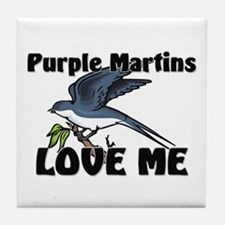 Purple Martins Love Me Tile Coaster