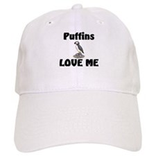 Puffins Love Me Baseball Baseball Cap