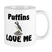 Puffins Love Me Small Mug