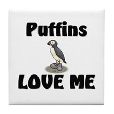 Puffins Love Me Tile Coaster