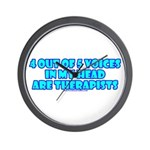 4 outta 5 Voices Wall Clock