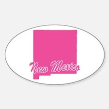 Pink New Mexico Oval Decal