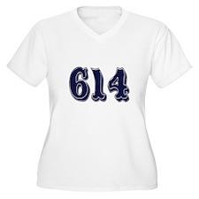 614 Womes Plus-Size V-Neck T-Shirt