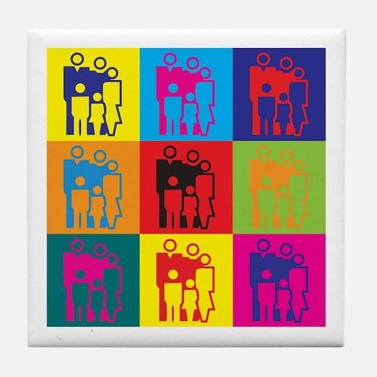 Social Work Pop Art Tile Coaster