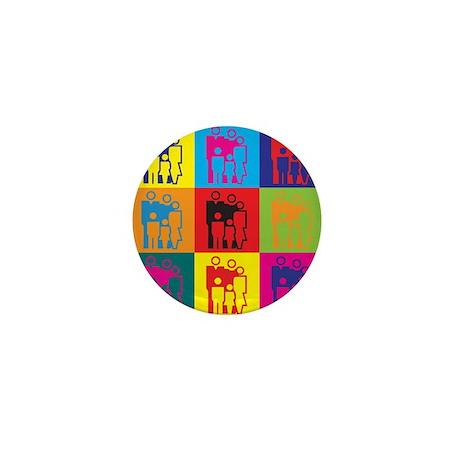 Social Work Pop Art Mini Button (100 pack)