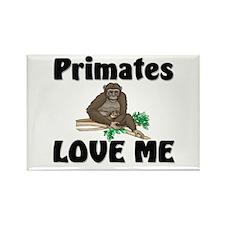 Primates Love Me Rectangle Magnet