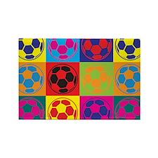 Soccer Pop Art Rectangle Magnet