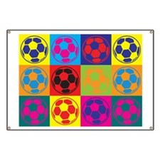 Soccer Pop Art Banner