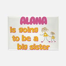 Alana - Big Sister To Be Rectangle Magnet