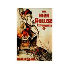 High Rollers Mamie Lamb Rectangle Magnet