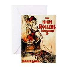 High Rollers Mamie Lamb Greeting Card