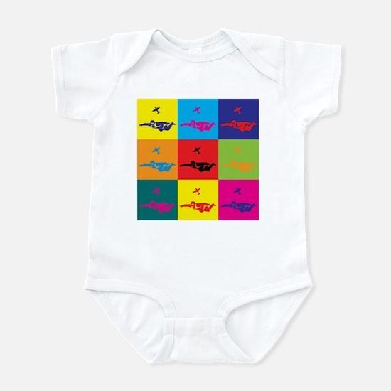 Skydiving Pop Art Infant Bodysuit
