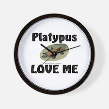 Platypus Love Me Wall Clock