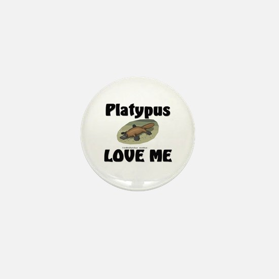 Platypus Love Me Mini Button