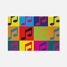 Singing Pop Art Rectangle Magnet