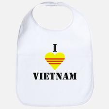 I Love Vietnam Bib