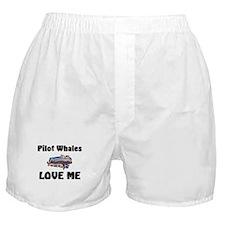 Pilot Whales Love Me Boxer Shorts