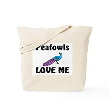 Peafowls Love Me Tote Bag