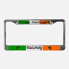 Maloney in Irish & English License Plate Frame
